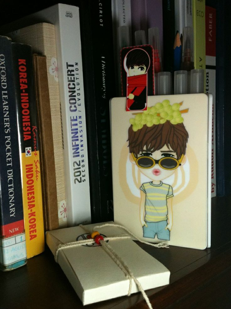 pencil BOX | acrylic Standing CARD | created by +RATNA HAR (Little Lumut)