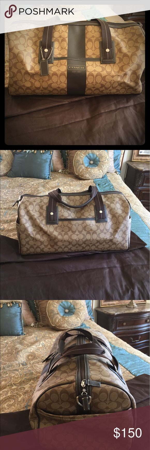 Gently Used Authentic Coach Travel Bag Used maybe twice! Excellent condition shows little to no signs of wear. Sorry I do not have the box or dust bag. Coach Bags Travel Bags