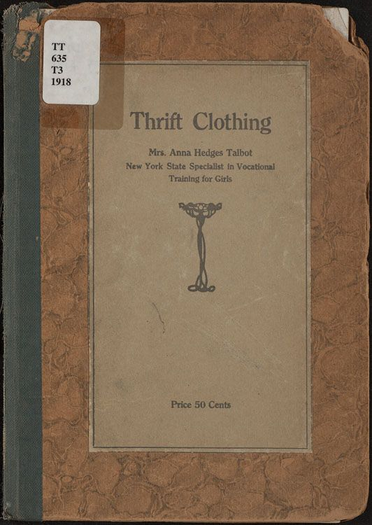 Talbot, Anna Hedges Thrift clothing ([1918])