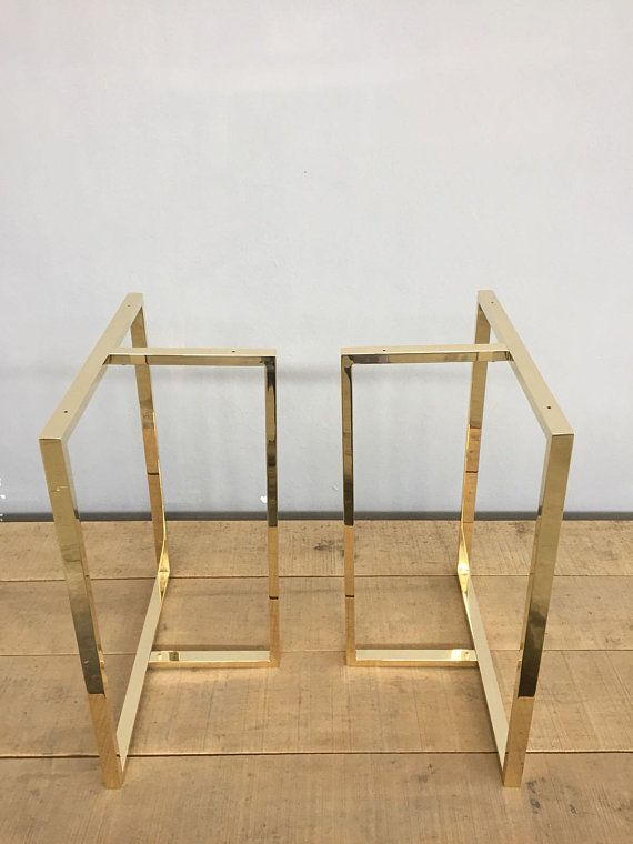 Brass Dining Table Legs Metal 28 X 23 X 11 T Look Table