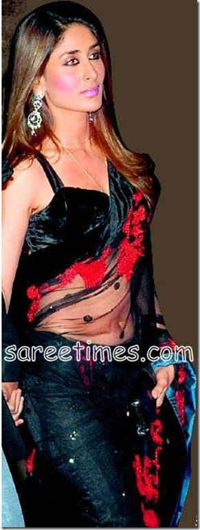 Kareena Kapoor Khan-Black red saree
