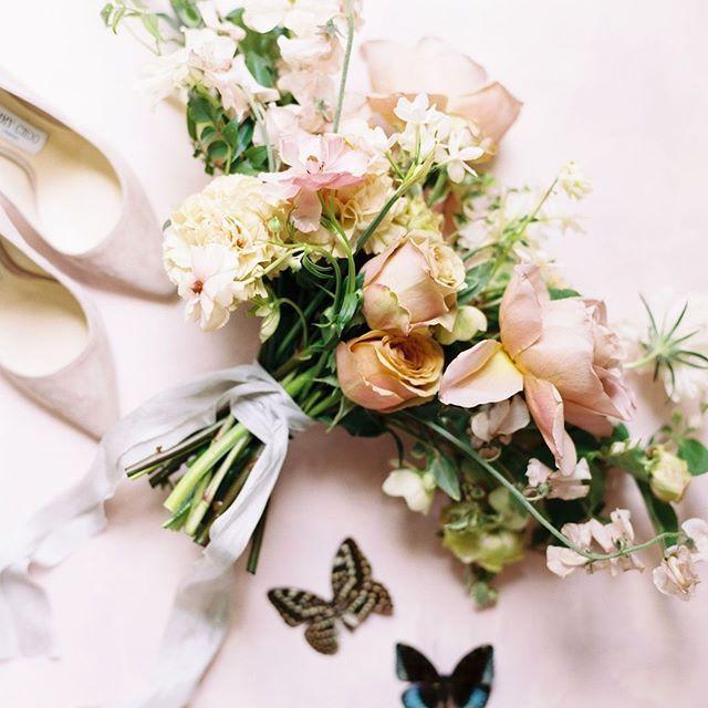 Pretty Floral Wedding Bouquet With Silk Ribbons And Butterflies Wedding Ribbon Bouquet Wedding Bouquets