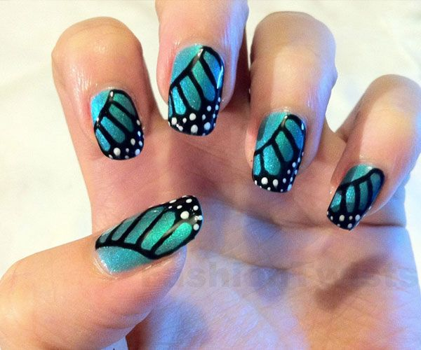 Butterfly Nail Designs Step By Step: 704 Best Images About Nail Art On Pinterest