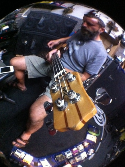 Justin Chancellor working on the new Tool album!