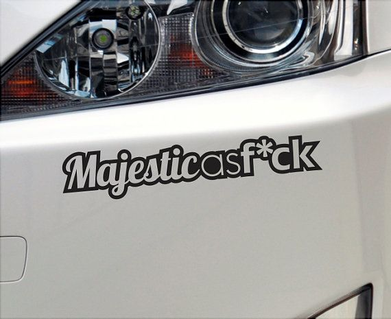 57 best car accessories images on pinterest auto accessories majestic as fck funny bumper sticker vinyl decal fuck jdm car sciox Gallery