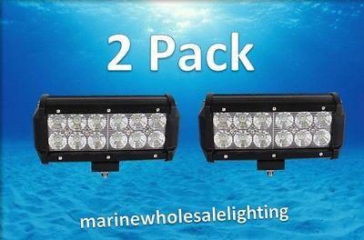 Super Rectangular Marine Led 36W  Pontoon Docking Head Lights Boat 12v