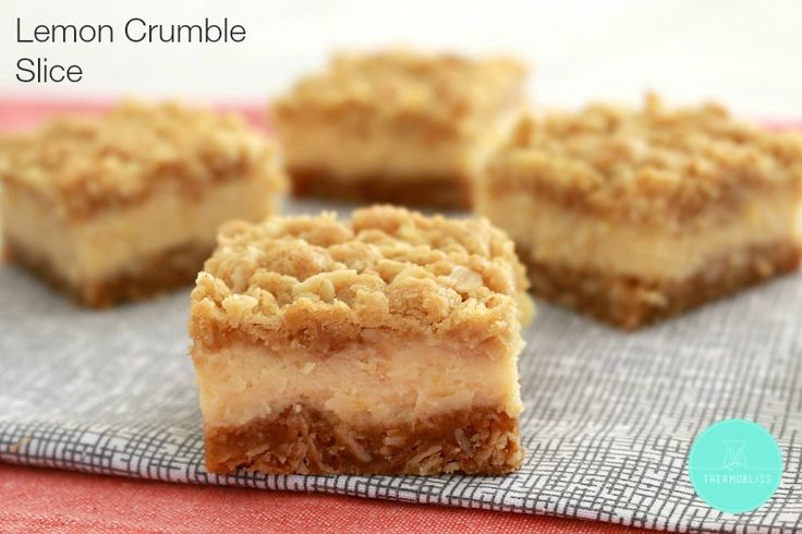 Thermobliss Lemon Crumble Slice