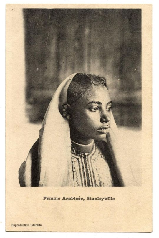 """Swahili people from Stanleyville (now Kisangani in D.R. Congo): These Waswahili are originally from Zanzibar. Most people made no distinction between the Omani Swahili speaking Arabs & the Waswahili from Zanzibar that were living in Congo at the time so they were all called Arabs. Waswahili were referred to as Arabs mainly by Europeans & sometimes both Omanis & Zanzibari were referred to as """"Ngwana"""" by the local population."""