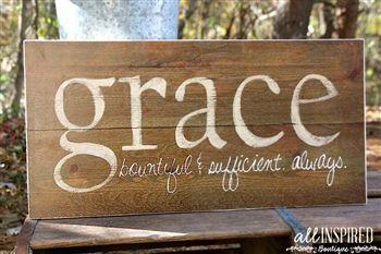 Beautiful grace sign.