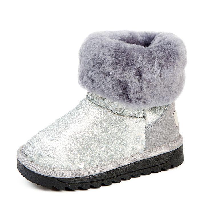 Snowboots Kids Walking Warm Baby Booties Children Winter Shoes Kinderschoenen Galoshes Kids Snow Boot Purecontrol 60Y049 #Affiliate