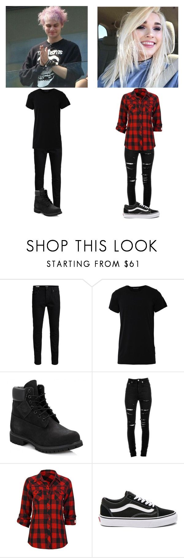 """Michael , Kaitlyn"" by colby-brocks-wife ❤ liked on Polyvore featuring Jack & Jones, Numero00, Timberland, Yves Saint Laurent, Full Tilt and Vans"