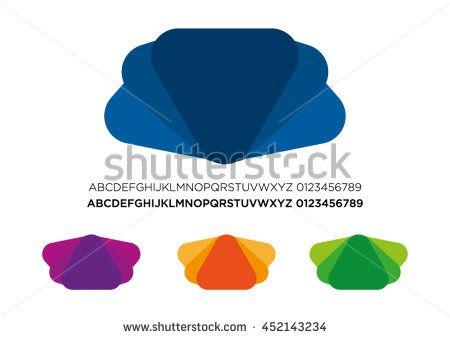 Logo Set Flat Design Abstract Elements