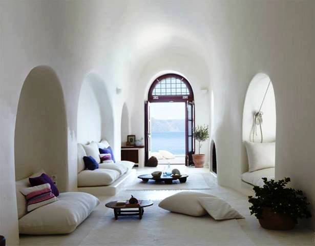 loving the calmness of the space, the alcoves, the large pillows....