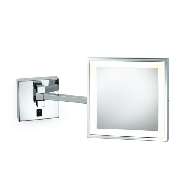 Elixir Wall-Mounted Makeup Mirror by Electric Mirror | EMHL88SIL-CH