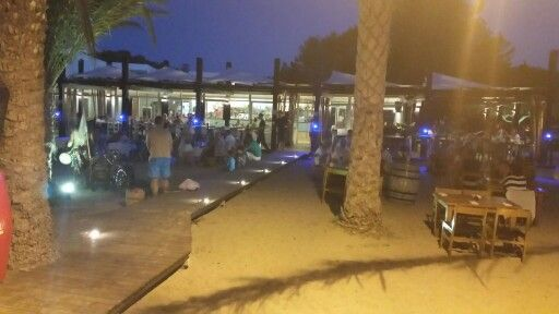 There's just a couple of bars and restaurants around the San Miguel Beach Club in Ibiza.