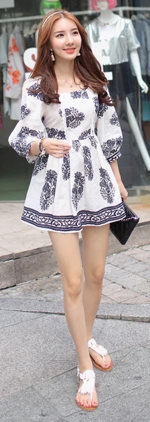 Luxe Asian Korean Women Fashion Rail Leone Ivory Dress