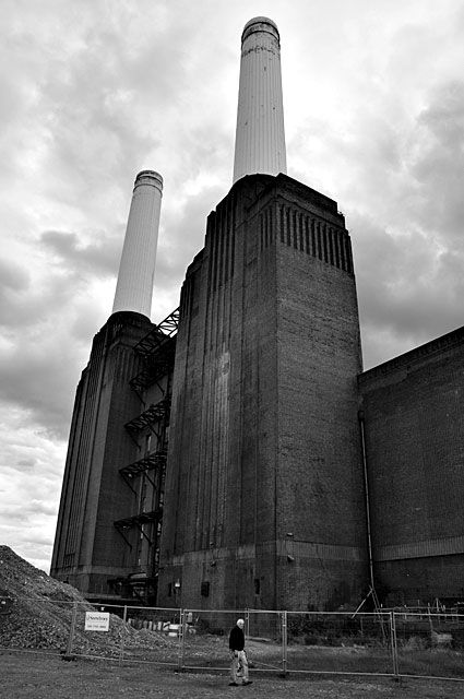 Battersea power station, outside