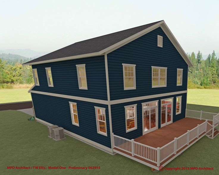 "Preliminary design rendering of ""Model-One"" ""Green"" home project in association with TW Ellis Builders."