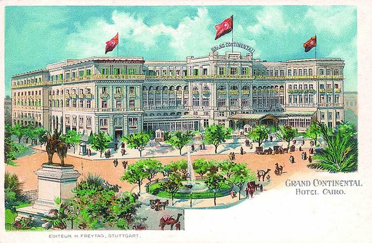 In der Nähe des Grand Hotel Savoy in Kairo beziehen unsere Helden eine gemütliche kleine Pension. Grand_COntinental_postcard