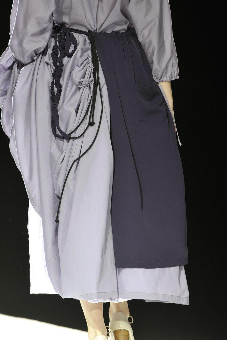 Greys   Apron tie   Full skirt dress   Yohji Yamamoto