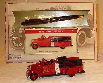 Vintage Diecast Fire Truck Engine 1939 Ward LaFrance 1:64 Euro Pen Gift Set NEW