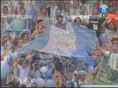 Himno argentino en el mundial 2006
