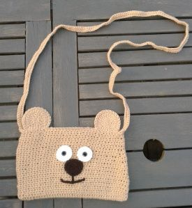 gehaakte beertjes tas / crochet little bear bag