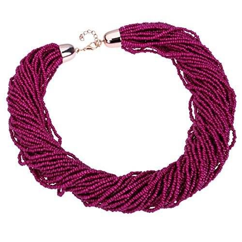 Shop https://goo.gl/Nv9Pdy   Fashion Multilayer Seed Bead Cluster Strand Handmade Bib Choker Necklace (Purple)    Price 10.99   Go to Store https://goo.gl/Nv9Pdy  #Bead #Bib #Choker #Cluster #Fashion #Handmade #Multilayer #Necklace #Purple #Seed #Strand