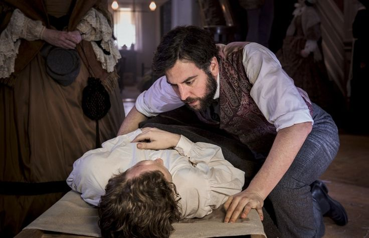 PBS's new Civil War drama staged a bloody surgery scene that was a departure for the network -- and a challenge for the actors.