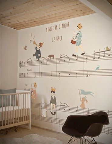 I wonder if they have Blue Danube? little hands: Little Hands Wallpaper Mural - Bach