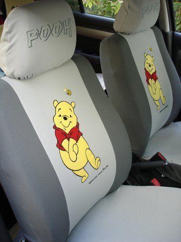 6pcs Winnie The Pooh Universal Car Seat Cover Gray