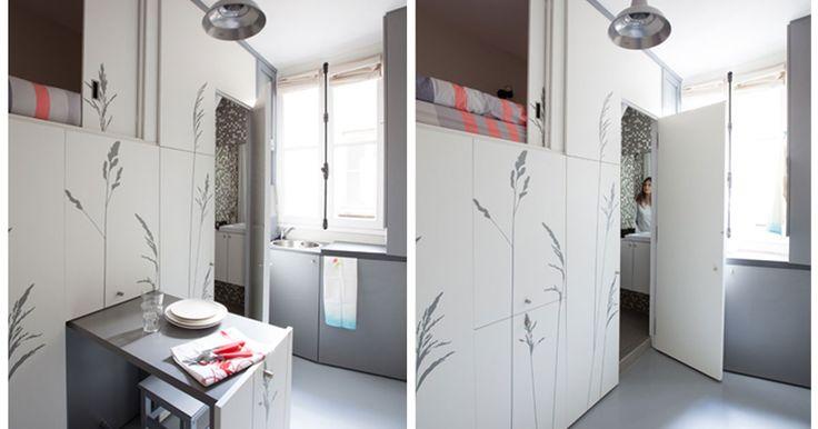 Ragazza Trasforma un Locale da 8 Mq nell'Appartamento più Piccolo (e Adorabile) di Parigi