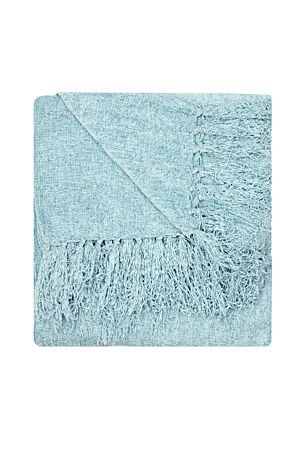 The velvety texture of our chenille throw has a lustrous appearance and a fringe trim.