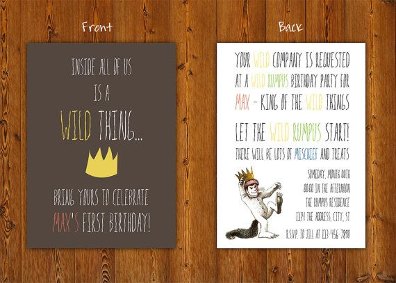 Where the Wild Things Are - InvitationBirthday Party Invitations, Invitations Sets, Wild Things, Birthday Invitations, Things Birthday, 1St Birthday, Parties Ideas, Printables Birthday, Birthday Parties Invitations