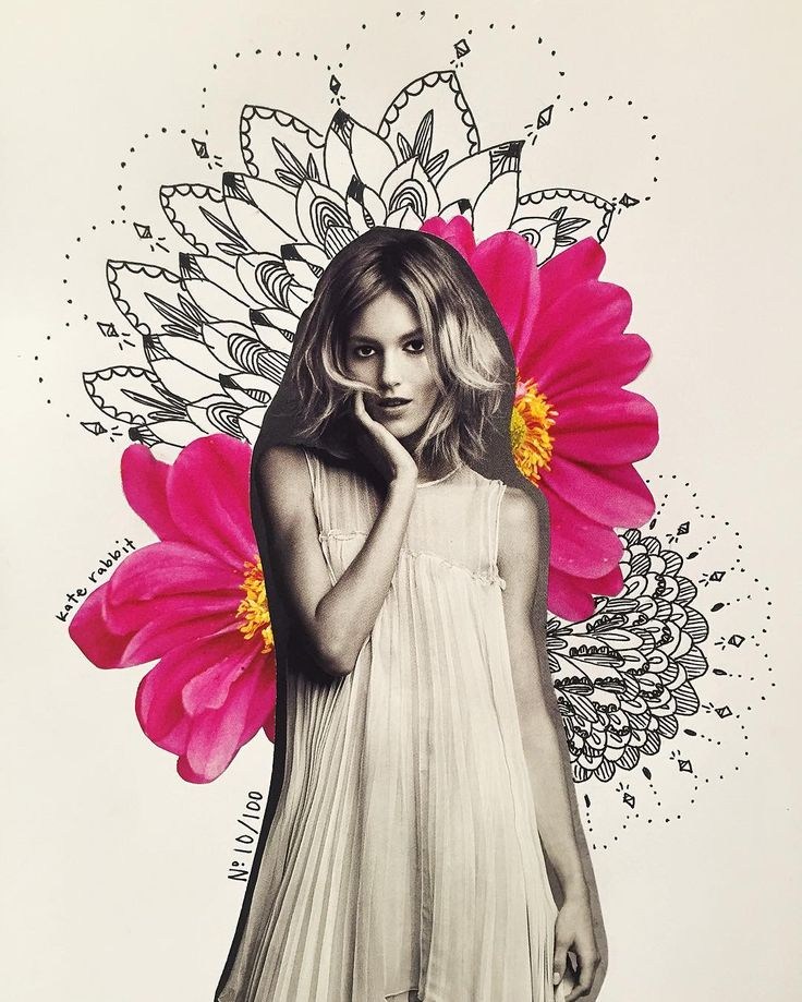 flower collage by katy edling- No. 10/100