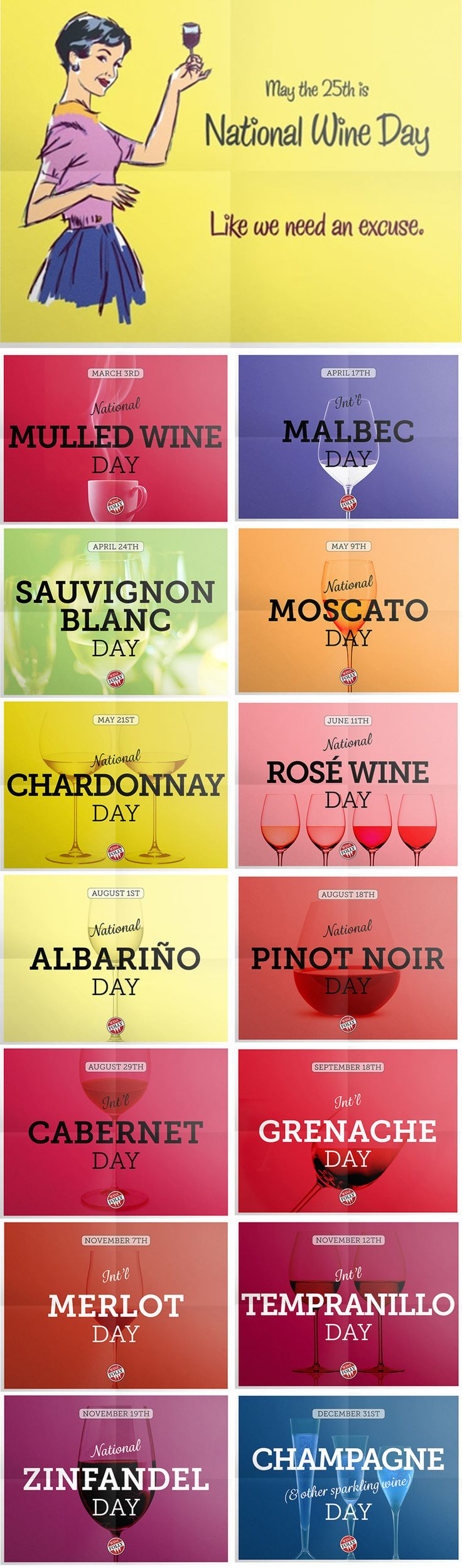 25 unique national days ideas on pinterest national celebration national wine day and 36 other official days to drink wine sciox Gallery