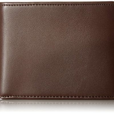 RFID Secure Mens Leather Wallet by KNOXX Wallets - Premium RFID Blocking, Holds 10 Cards, Transparent ID Holder, 2 Currency Slots, Gift Box Included