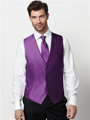 Paragon Vest & Slider Tie (African Violet)