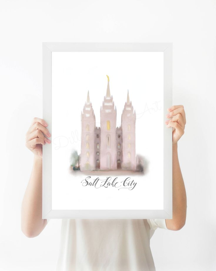 Printable, SLC Temple, Salt Lake City Temple Print, SLC Temple Art, Temple Instant Download, Temple Printable, LDS Poster, Mormon Artwork   If you would like me to PRINT AND SHIP this art, please ALSO ADD to your cart this listing: https://www.dillydesignsart.com/listing/539274053/print-and-ship-an