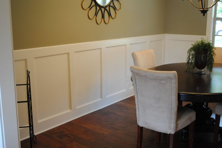 Add to the chair rail and paint it all white dining for All white dining room