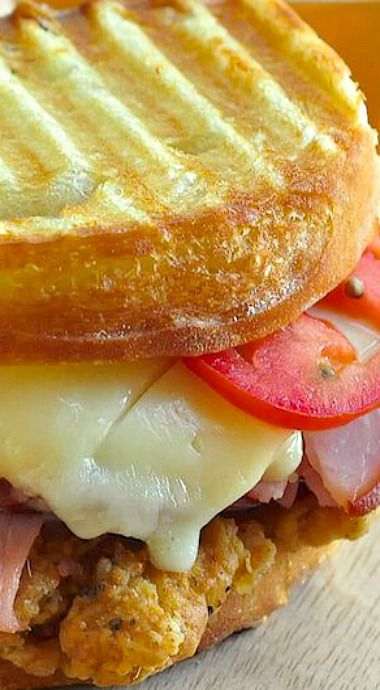 Fried Chicken Club Sandwich Panini