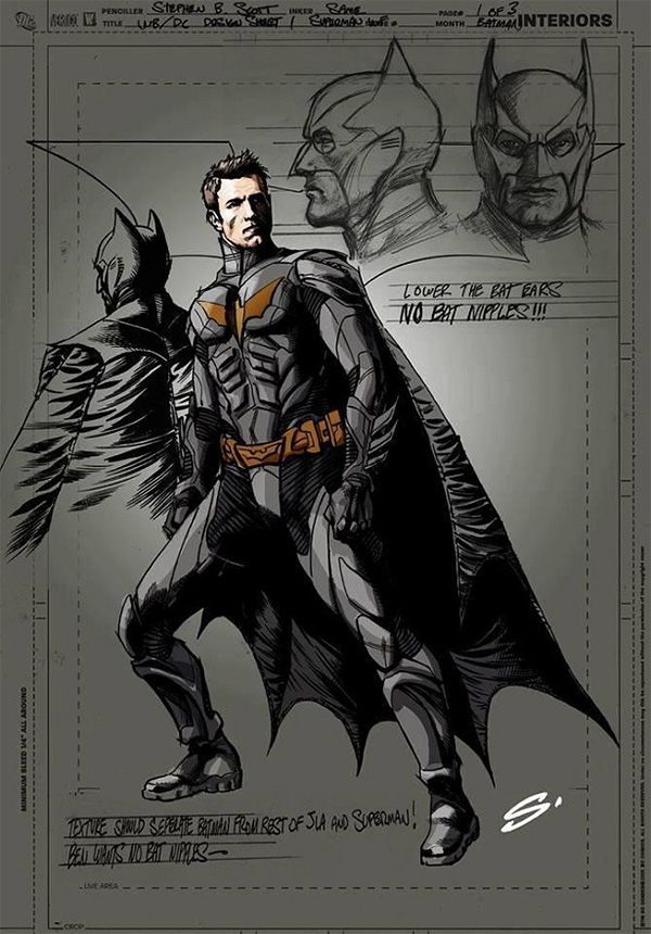 Ben Affleck as Batman. NO BAT NIPPLES!!!