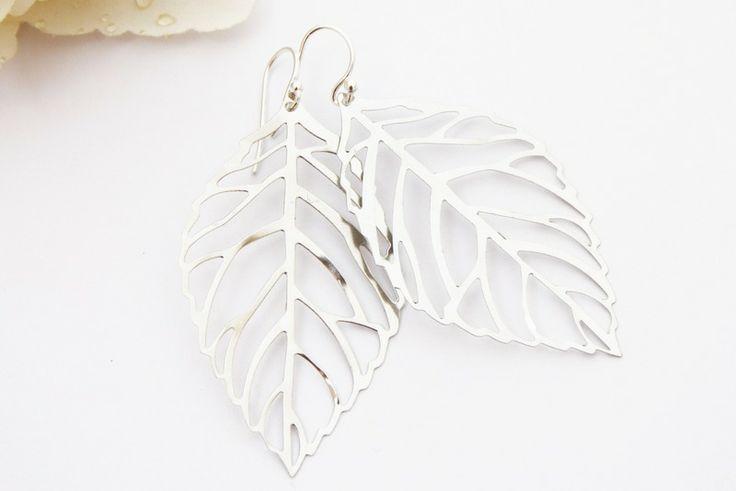 Ohrringe Blatt Blätter silber von Dany-cards-and-more auf DaWanda.com