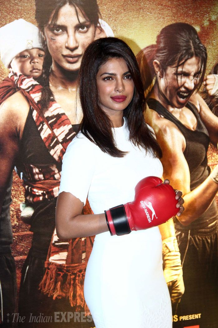 Priyanka Chopra at the 'Mary Kom' trailer launch.