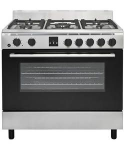 Bush AGE96RS Range Cooker- Stainless Steel.