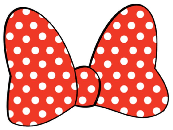 Minnie Mouse Bow Clipart - bow, disney, minnie mouse, minnie mouse bow, red bow, white polka dot bow - PRO CLIP ARTS