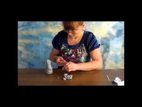 уроки папье-маше Татьяны Молодой - КОТЭ - YouTube