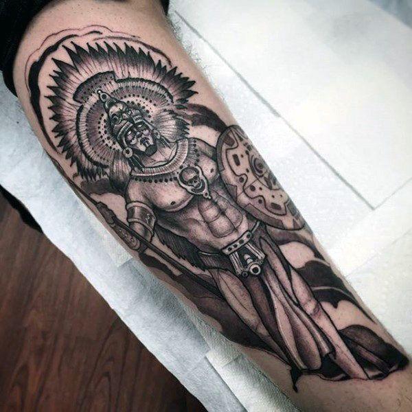 Aztec Warrior Forearm Tattoos Best Tattoo Ideas