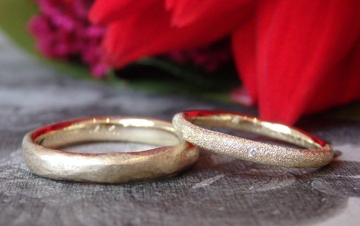 イズ:goldゴールドでお作りしたマリッジリング(オーダーメイド/手作り)  ith,marriage,wedding,ring,gold,