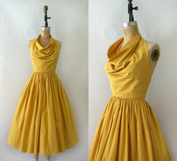 1950s Vintage Sundress  50s Claire McCardell by Sweetbeefinds, $388.00